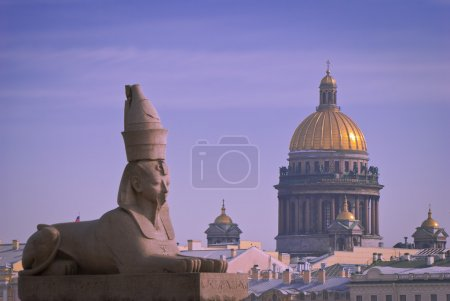 A Granite sphinx in St. Petersburg