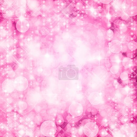 Photo for Background of defocussed pink lights with sparkles - Royalty Free Image