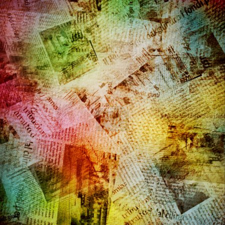 Grunge abstract background with old newspaper