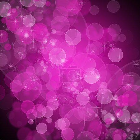 Photo pour Fond de lumières roses non focalisées avec des étincelles - image libre de droit