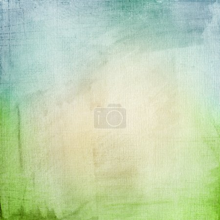 Foto de Un fondo grunge de papel con un gradiente azul-verde - Imagen libre de derechos