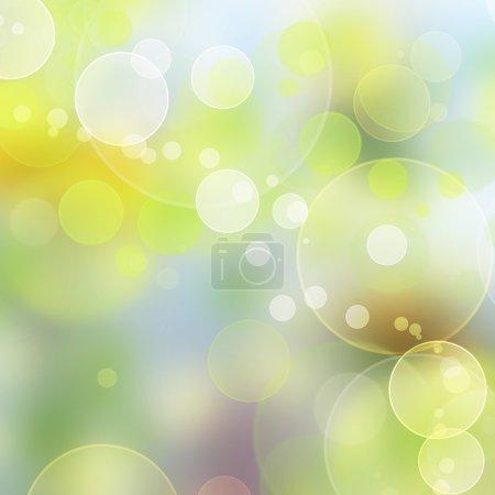Foto de Fondo de color abstracto con círculos borrosos en verde, amarillo y azul - Imagen libre de derechos