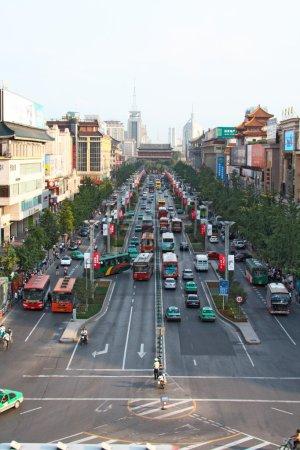 Heavy traffic in Xi'an, China