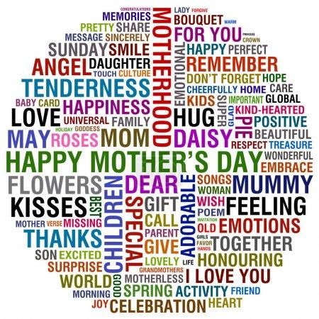 Photo pour Heureuse fête des mères - image libre de droit