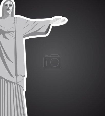 Christ redeemer vector