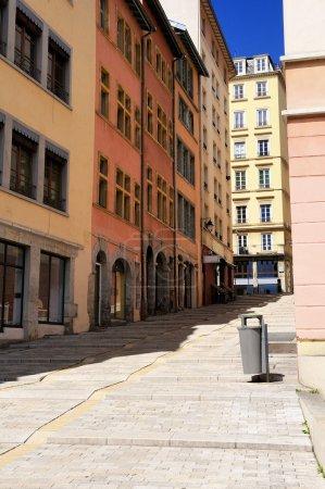 Photo pour Lyon, célèbre quartier de la Croix Rousse, Rhône-Alpes, France - image libre de droit