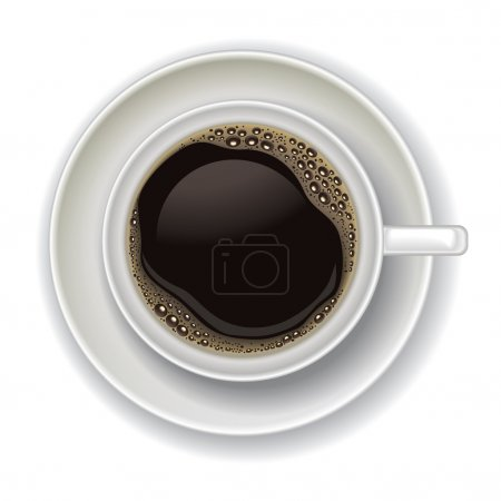 coffee cup isolated on a white