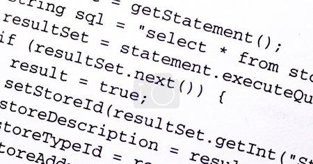 Photo pour Code source d'un programme d'ordinateur - image libre de droit