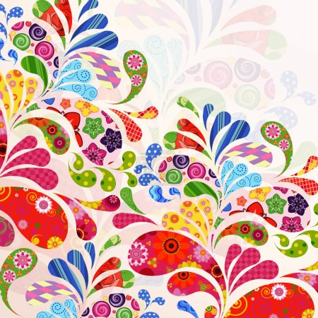 Illustration for Abstract ornamental floral background. - Royalty Free Image