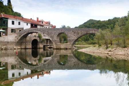 Old bridge in the village Rijeka Crnojevica, Montenegro