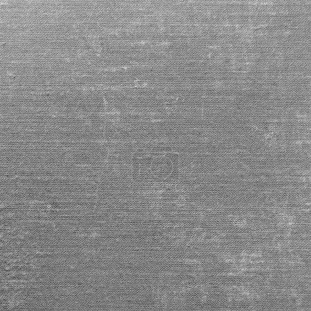Detailed Grey Grunge Linen Texture Background