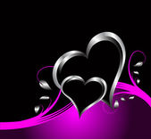 A purple hearts Valentines Day Background