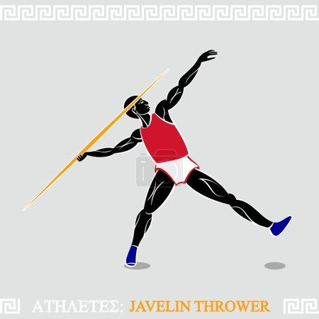 Athlete Javelin thrower