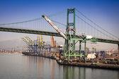 San Pedro Ship Yard and Bridge