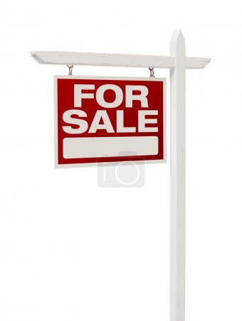 Home For Sale Real Estate Sign with Clipping Path