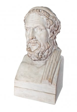 Ancient greek statue of the great poet Homer isola...