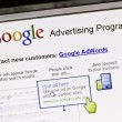 Close up of Google's Advertising Program