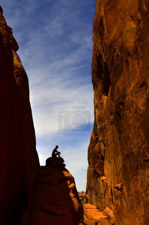 Woman Hiking in Arches National Park