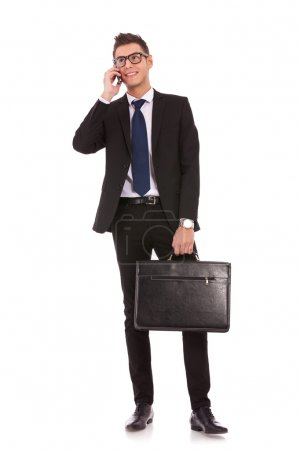 Business man talking on a mobile phone