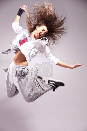 Full of energy woman dancer