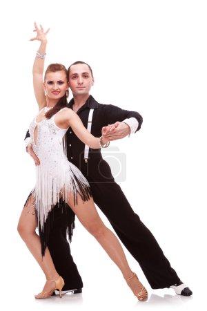 Passionate salsa dancers