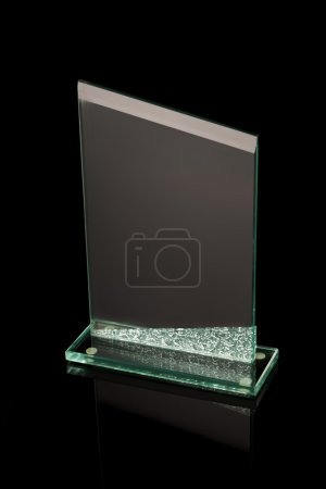 First place award glass trophy