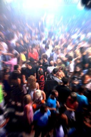 Photo pour Disco danse effet Flou radial - image libre de droit