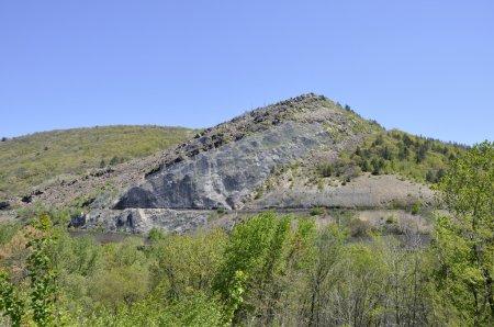 Photo pour Montagne de lehigh fosséen slatington, Pennsylvanie - image libre de droit