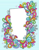Psychedelic Doodle Picture Frame Vector Design