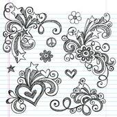 Back to School Sketchy Doodle Vector Design Elements Set