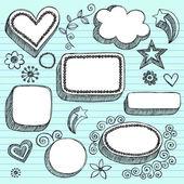 Sketchy doodles 3D shapes