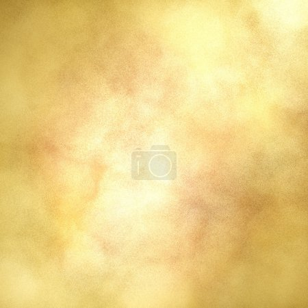Photo for Blotchy gold background with center highlight for copyspace and soft faded vintage grunge texture design layout - Royalty Free Image