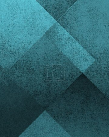 Photo for Blue and black background with parchment grunge texture in abstract block design layout - Royalty Free Image