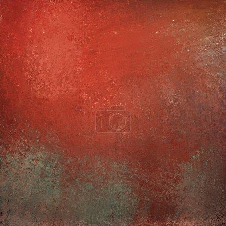 Photo pour Fond rouge avec graffiti grunge texture vintage et surbrillance sur l'illustration en pierre grise avec copyspace pour le texte ou le titre - image libre de droit