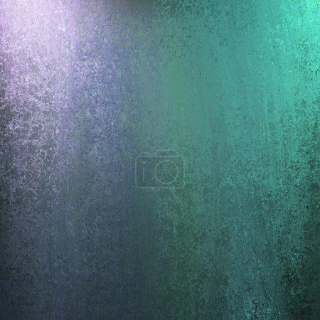 Photo pour Fond abstrait bleu et vert avec éclairage et texture éponge et copyspace pour texte publicitaire ou brochure - image libre de droit