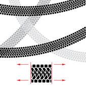 Tire Track Illustration for design on white background