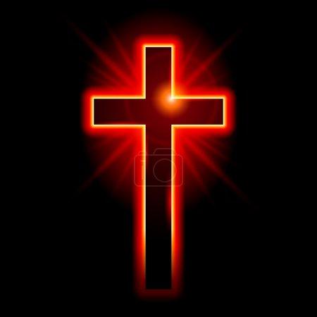 Christian symbol of the crucifix. Illustration on ...