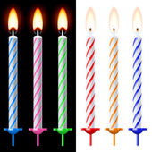 Colorful holiday candles Illustration on black and white background