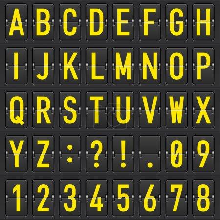jeu de lettres sur un horaire mécanique