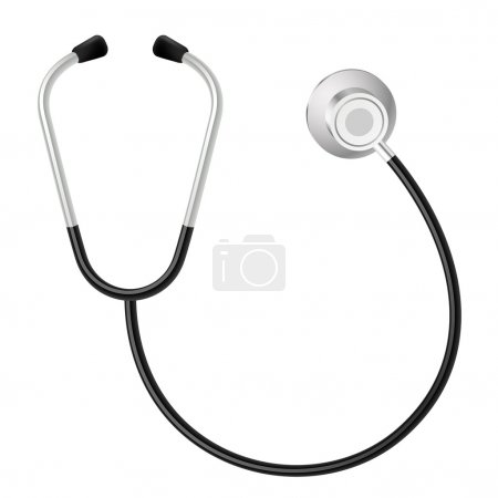 Stethoscope. Illustration on white