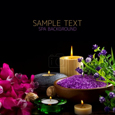 Photo for Spa over black - Royalty Free Image