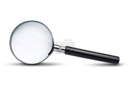 Photo pour Verre grossissant isolé sur blanc avec ombre douce - image libre de droit