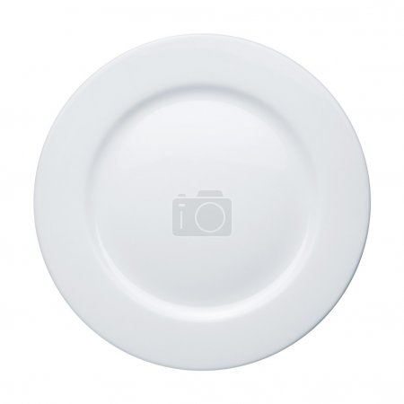 Photo for Plate on white background - Royalty Free Image