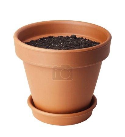 Photo pour Pot de fleurs avec terre - image libre de droit
