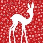 Постер, плакат: Bambi on red background