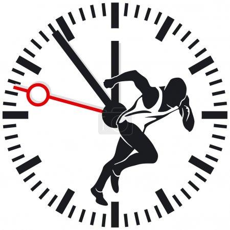 Illustration pour Temps d'exécution - image libre de droit