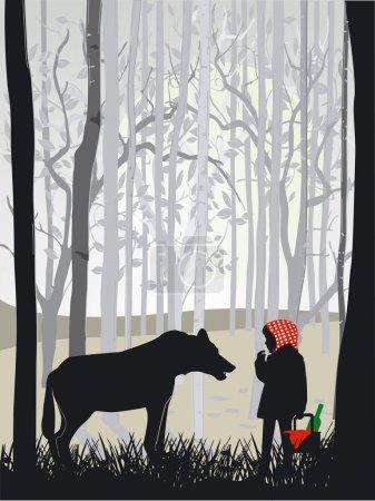 Illustration pour Petit chaperon rouge - image libre de droit