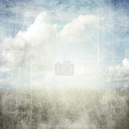 Photo for An abstract grunge texture background with clouds. Page to design photo books - Royalty Free Image