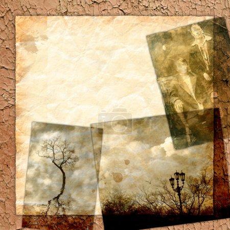 Foto de Fondo con textura retro de estilo vintage. Página de libros fotográficos de diseño - Imagen libre de derechos