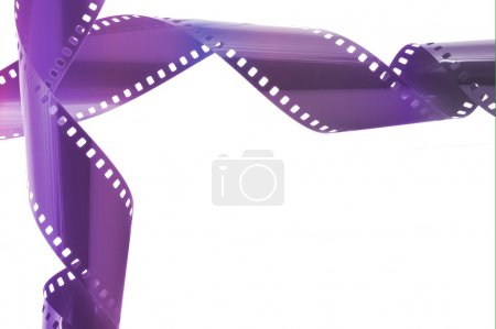 Photo for Film strip in front of a white background - Royalty Free Image